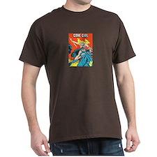 Cave Girl mens dark t-shirt