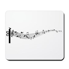 music notes with birds Mousepad