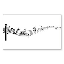 music notes with birds Decal
