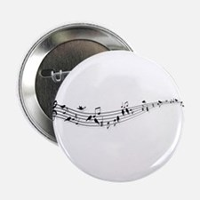 "music notes with birds 2.25"" Button"