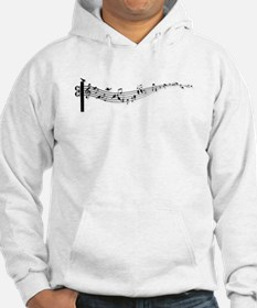 music notes with birds Hoodie