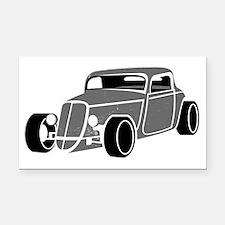 Hot Rod  Rectangle Car Magnet