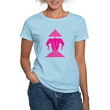 Pink 3 Headed Elephant T-Shirt