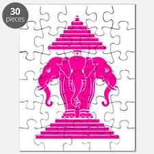 Pink 3 Headed Elephant Puzzle