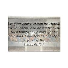 Hebrews 13:5 Rectangle Magnet (10 pack)
