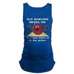 Old Bowlers Never Die Maternity Tank Top