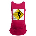 Bowling Crossing Sign Maternity Tank Top