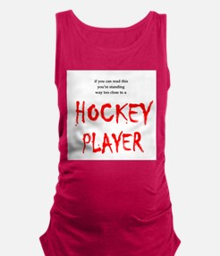 FIN-way too close hockey.png Maternity Tank Top