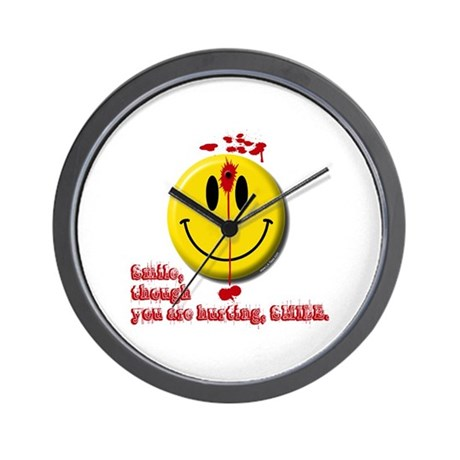 SMILE, THOUGH YOU ARE HURTING Wall Clock