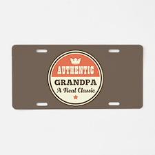 Authentic Grandpa Classic Aluminum License Plate