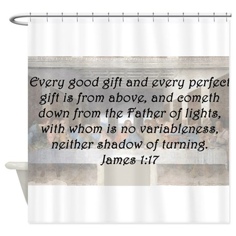 James 1:17 Shower Curtain