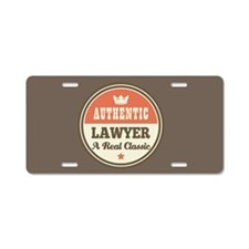 Authentic Lawyer Aluminum License Plate