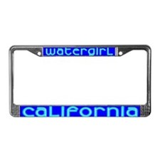 Watergirl License Plate Frame