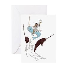Jesus - Narwhal Rider Greeting Card