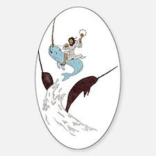 Jesus - Narwhal Rider Sticker (Oval)