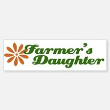 Farmer's Daughter Bumper Car Car Sticker