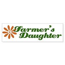 Farmer's Daughter Bumper Car Sticker