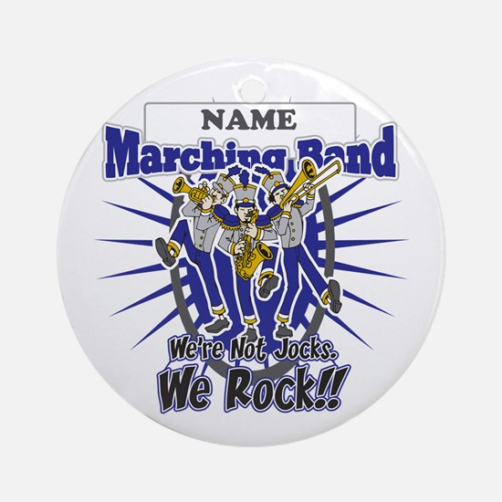 Marching Band Rocks(Blue) Ornament (Round)