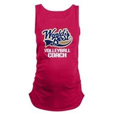 Worlds Best Volleyball Coach Maternity Tank Top
