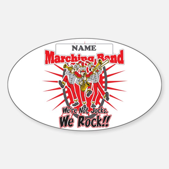 Marching Bands Rock(Red) Sticker (Oval)
