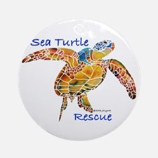 Sea Turtle Rescue Ornament (Round)