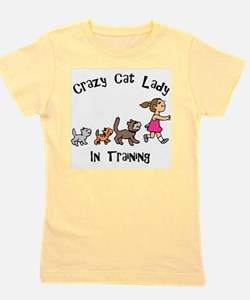 FIN-crazy-cat-lady-in-training.png Girl's Tee