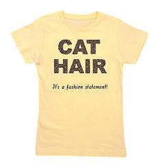 FIN-cat-hair-fashio... Girl's Tee