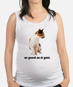 FIN-calico-cat-good.png Maternity Tank Top