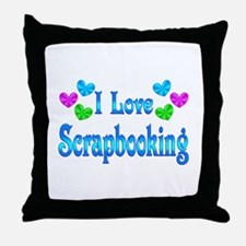 I Love Scrapbooking Throw Pillow
