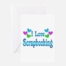 I Love Scrapbooking Greeting Card