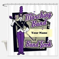 Custom Marching Band Geek(Purple) Shower Curtain