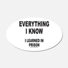 EVERYTHING I KNOW I LEARNED IN PRISON Wall Decal