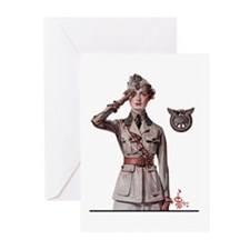 Women in WWI Greeting Cards (Pk of 10)
