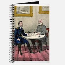 Surrender of Genl. Lee, at Appomattox - 1865 Journ