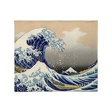 The Great Wave of Kanagawa Throw Blanket