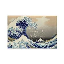 The Great Wave of Kanagawa Rectangle Magnet