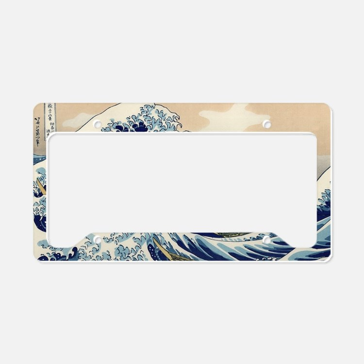 The Great Wave of Kanagawa License Plate Holder