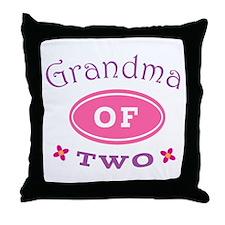Grandma Of Two Throw Pillow