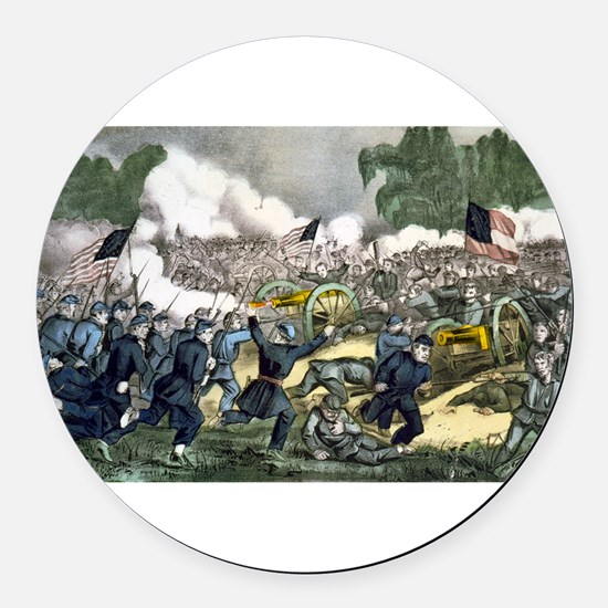 The battle of Gettysburg, Pa - 1863 Round Car Magn