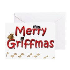 Brussels Griffon Griffmas Greeting Cards (10 pk)