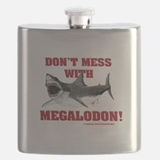 Don't mess with Megalodon! Flask