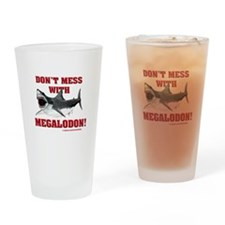 Don't mess with Megalodon! Drinking Glass
