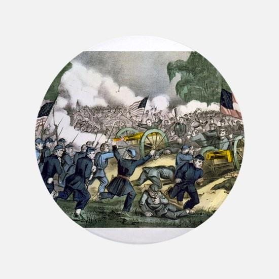 The battle of Gettysburg, Pa - 1863 Button