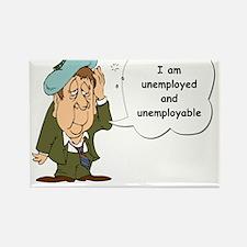 Unemployed Rectangle Magnet