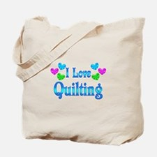 I Love Quilting Tote Bag
