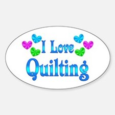 I Love Quilting Stickers