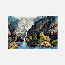 Yo-semite Falls California - 1856 Magnets