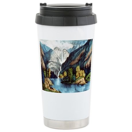 Yo-semite Falls California - 1856 Mugs