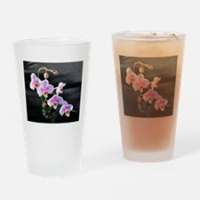 Pink Orchids Drinking Glass