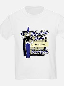 Custom Marching Band Geek(Blue) T-Shirt